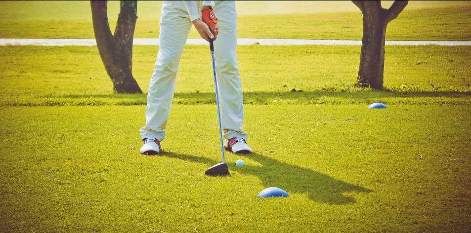 Golf stance & ball position