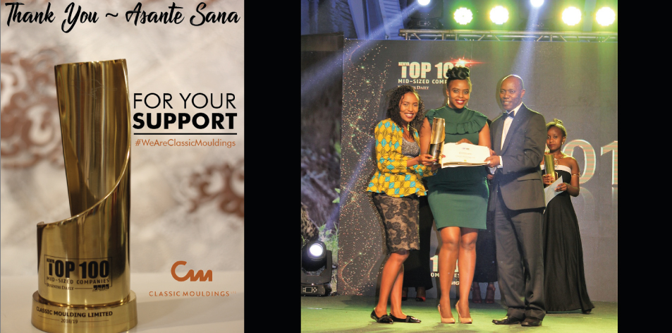 Classic Moulding Wins Top 100 Kenya