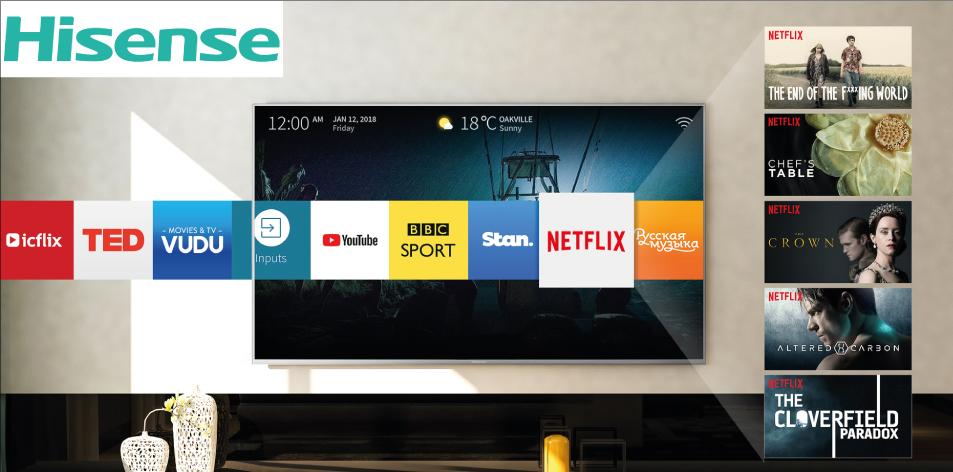 Hisense TV 55″ 4K UHD SMART | A6100