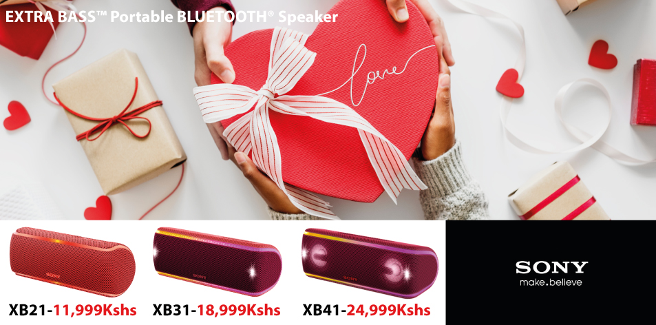 Sony EXTRA BASS™ Portable BLUETOOTH® Speaker- Be Spoilt For Choice This Valentine's