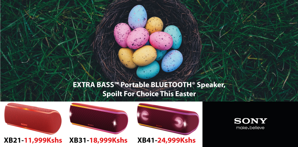 Sony EXTRA BASS™ Portable BLUETOOTH® Speaker- Be Spoilt For Choice This Easter