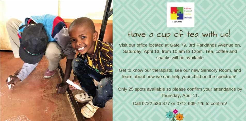 Have A Cup Of Tea With Us On Saturday 13th of April- Autism Support Center Kenya