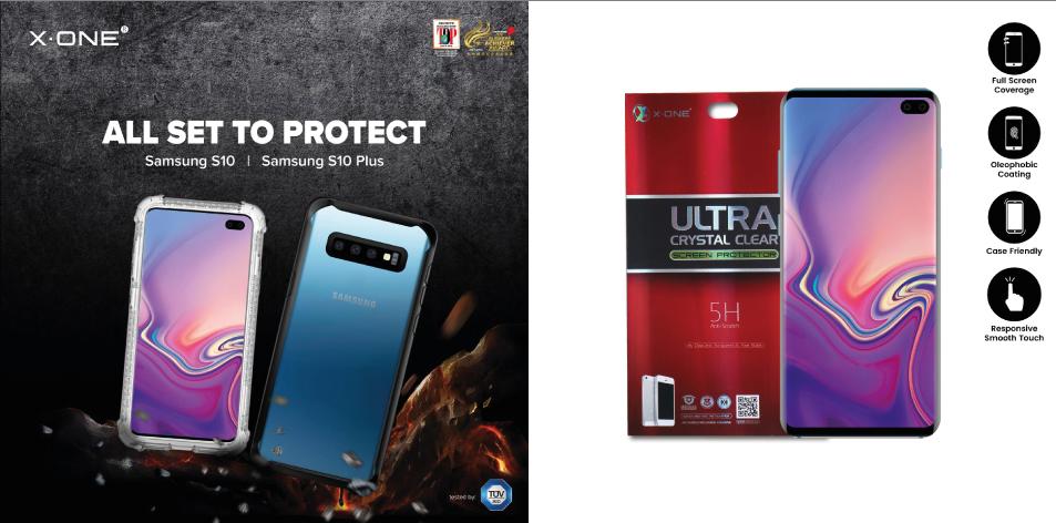 X.ONE® Galaxy S10 & S10 Plus DROPGUARD PRO & Ultra Series Screen Protector