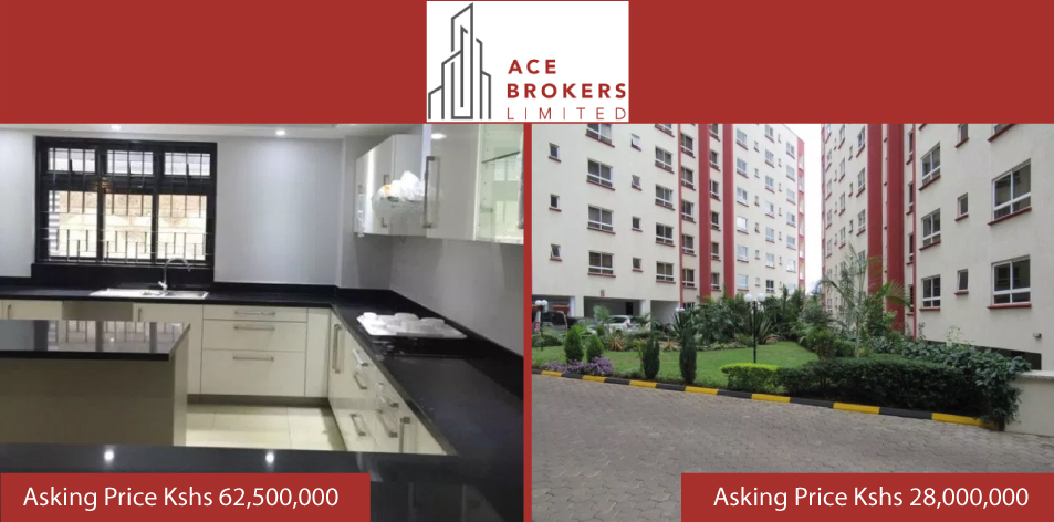 Ace Brokers Limited- 3 Bedroom Apartment & 5 Bedroom Villa For Sale!