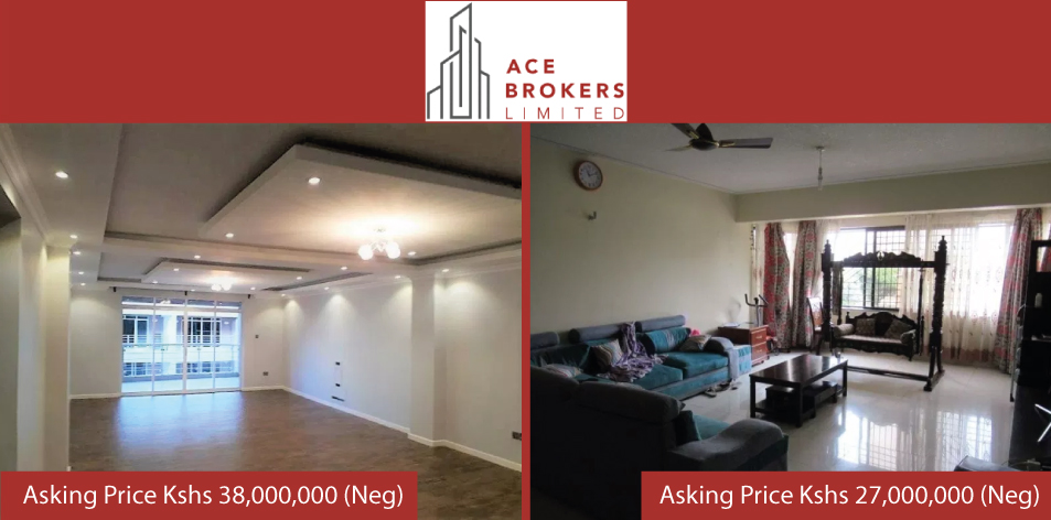 Ace Brokers Limited- 4 Bedroom Apartments For SALE!