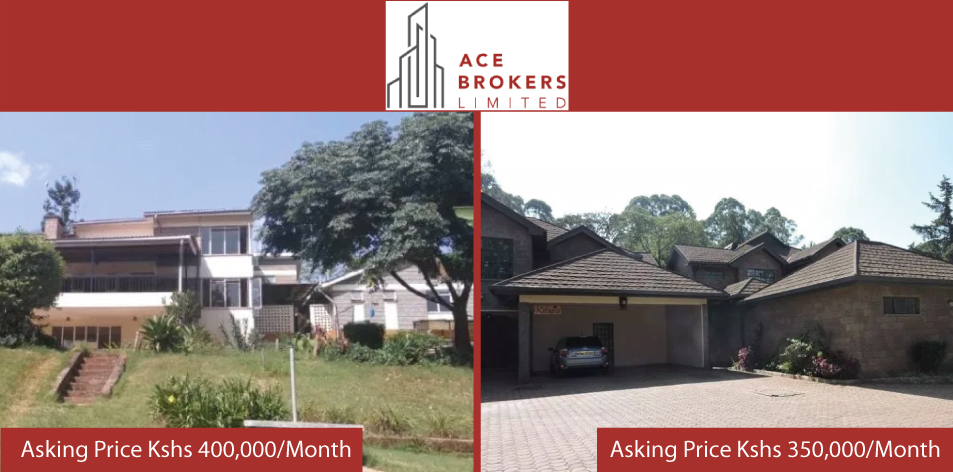 Ace Brokers Limited- 4 Bedroom House & Maisonette For Rent!