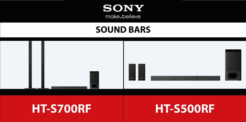Sony 5.1ch Home Cinema Soundbar System with Bluetooth® technology-HT-S700RF | HT-S500RF