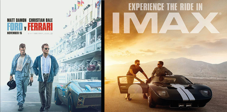 ANGA IMAX- 15th-21st Nov 2019- FORD VS FERRARI