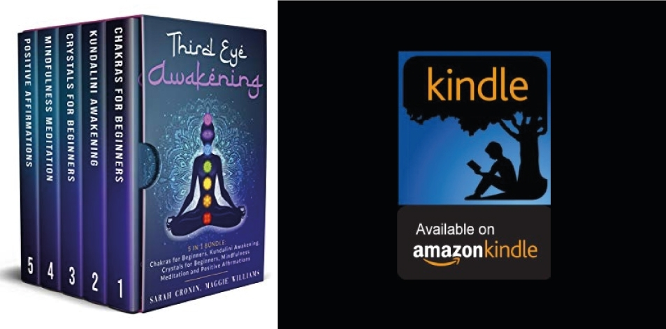 Amazon Kindle- H&S Magazine's Recommended Book Of The Week- Sarah Cronin- Third Eye Awakening: 5 in 1 Bundle: Chakras for Beginners, Reiki Healing, Kundalini Awakening, Crystals for Beginners, Mindfulness Meditation and Positive Affirmations Kindle Edition
