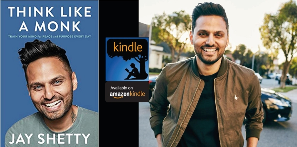 Amazon Kindle- H&S Magazine's Recommended Book Of The Week- Jay Shetty - Think Like a Monk: Train Your Mind for Peace and Purpose Every Day