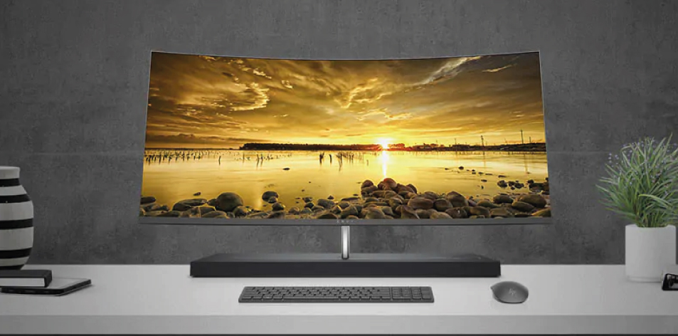 """HP ENVY 34"""" Curved All-in-One. Total immersion. Absolute seduction.- From $3,500"""