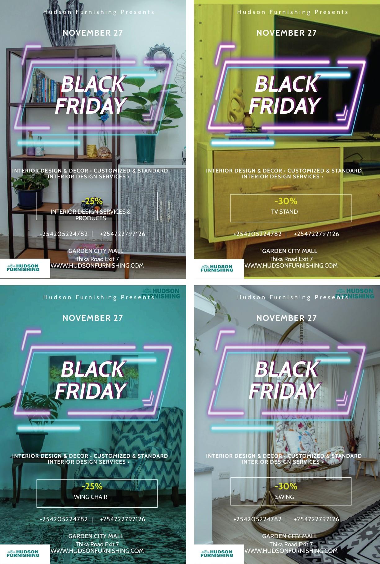 Hudson Furnishings Black Friday Offer