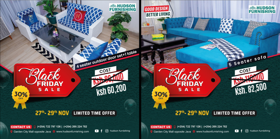 Hudson Furnishing - Don't Miss Our BLACK FRIDAY OFFERS! 27th-29th Nov. 2020