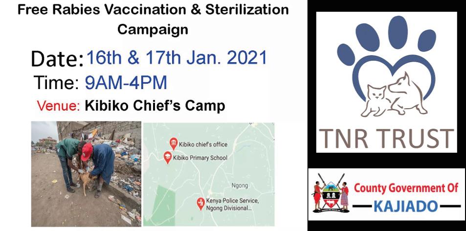 FREE Rabies Vaccination & Sterilization Campaign Jan 2021
