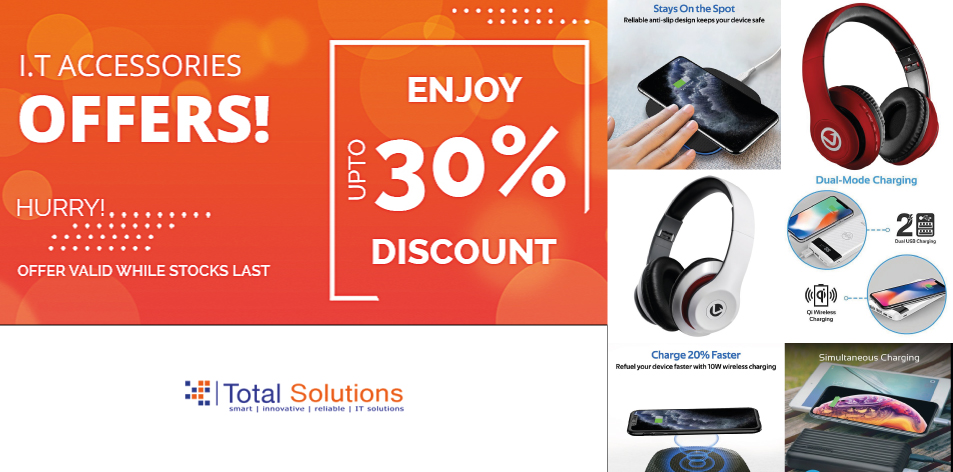 Total Solutions Ltd: Up To 30% Off On IT Accessories, Hurry Only While Stocks Last!