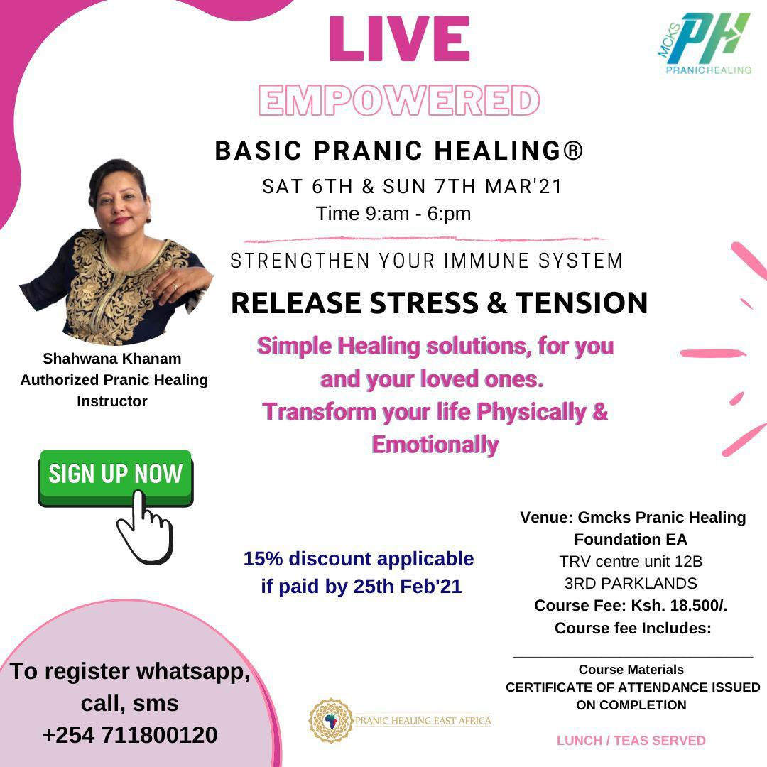 Basic Pranic Healing Workshop With Shahwana