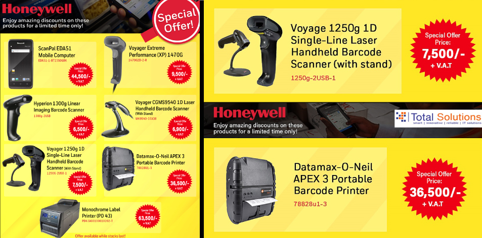 Total Solutions Ltd: Honeywell: Enjoy Amazing Discounts On These Products For A Limited Time Only!