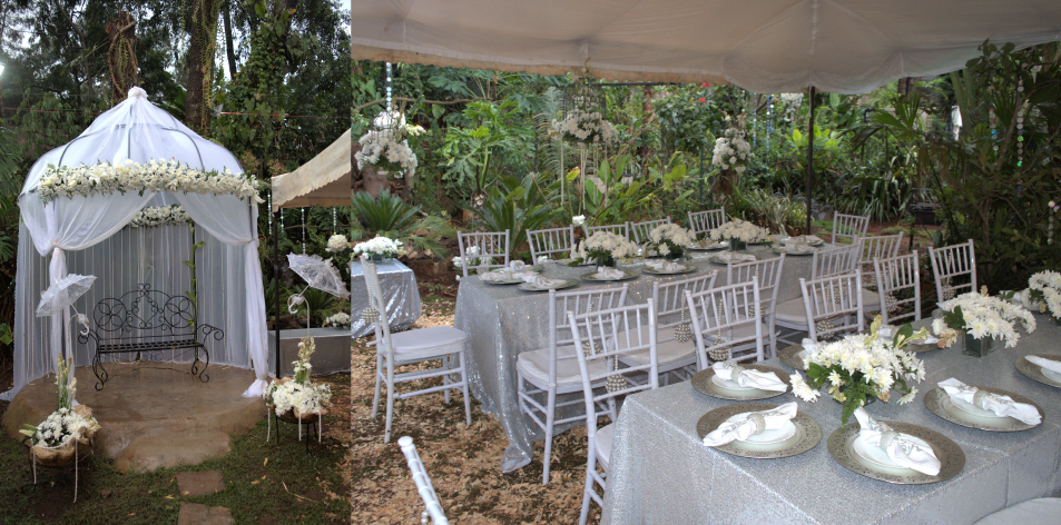 white floral decor