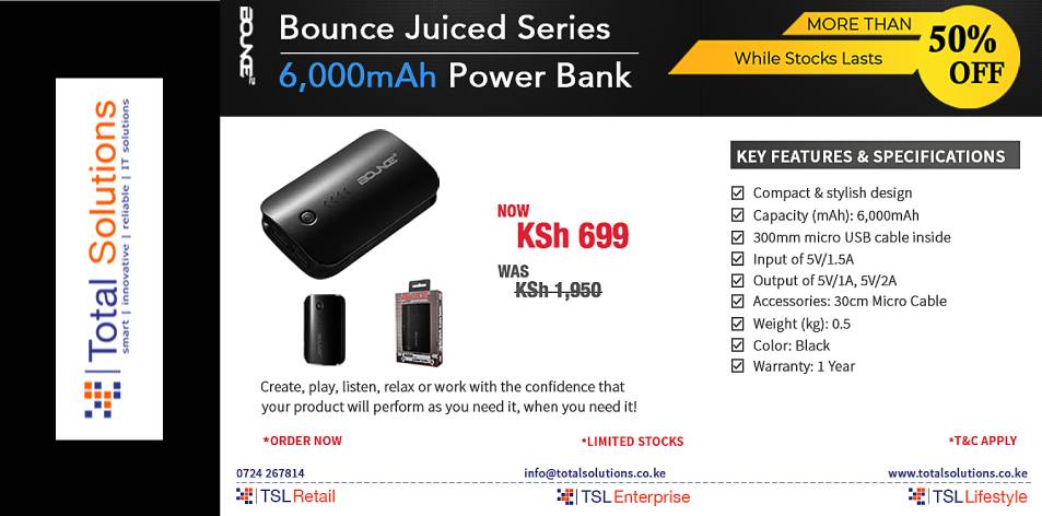 Total Solutions Ltd: BOUNCE SERIES: It's More Than Just A Power Bank!