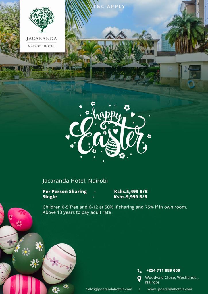 Jacaranda Nairobi Hotel- Spend This Easter In Nairobi City, The Heart Of Kenya