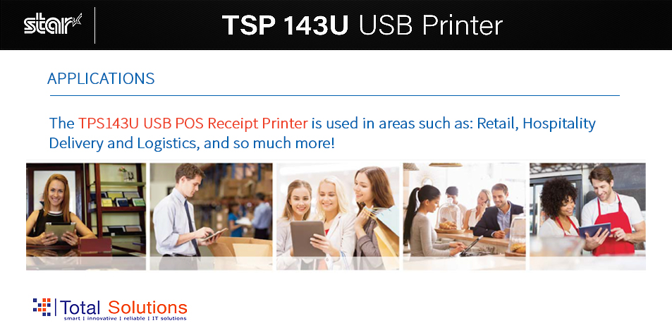 Total Solutions Ltd: Get This One Of A Kind USB Receipt Printer For Your Retail, Hospitality, Logistics Needs & So Much More!!