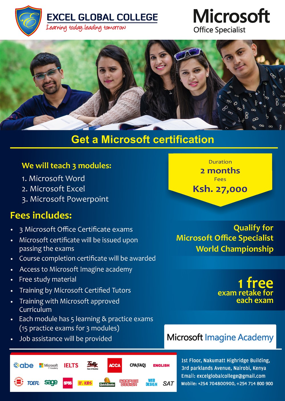 Excel Global College: Get A Microsoft Certification