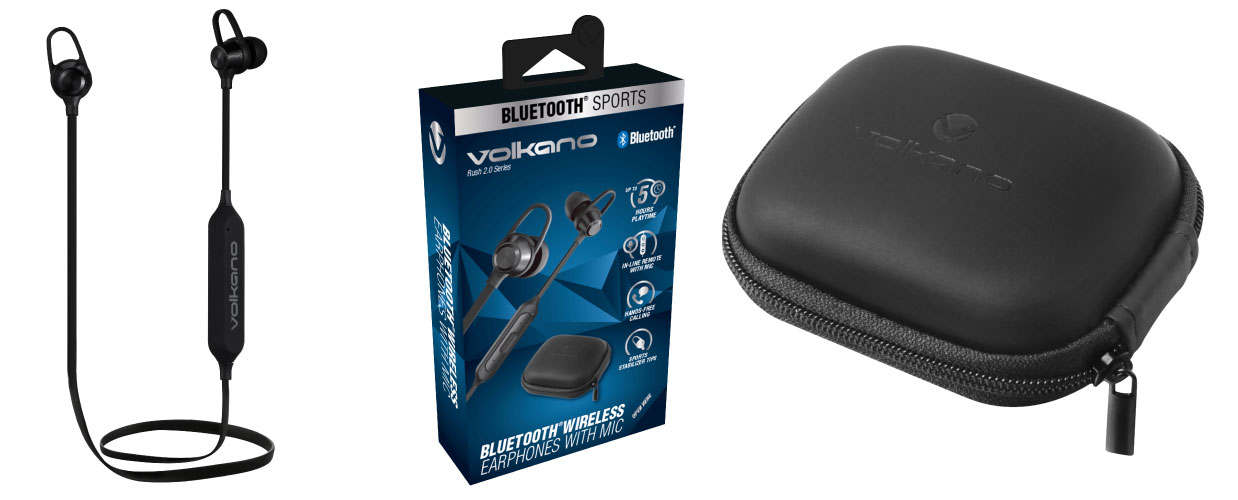 Volkano Rush Series Bluetooth Earphones W/ Wings