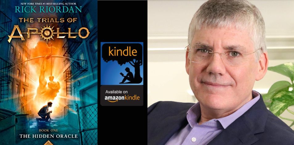 Amazon Kindle- H&S Magazine's Recommended Book Of The Week- Rick Riordan- The Trials of Apollo, Book One: The Hidden Oracle