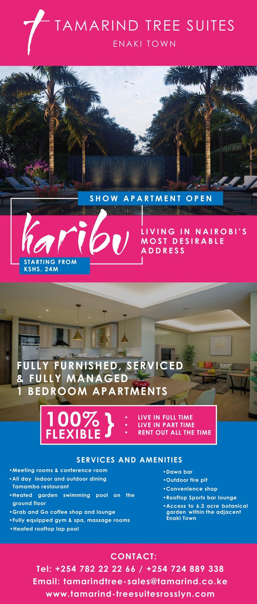 Tamarind Tree Suites Enaki Town- Living In Nairobi's Most Desirable Address- Starting From KSHS. 24M
