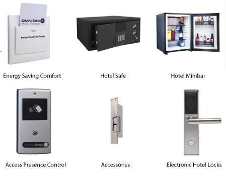 Illustration of Hotel Electronic Locks and Access Controls