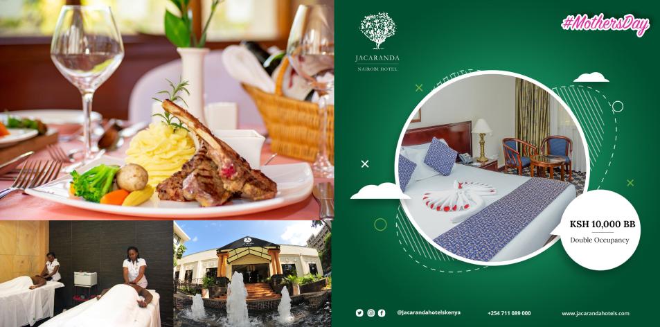 Spend Mother's Day At Jacaranda Nairobi Hotel- Kshs.10,000 BB Double Occupancy