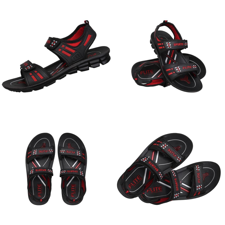 Flite Unisex Sandal - Black/Red