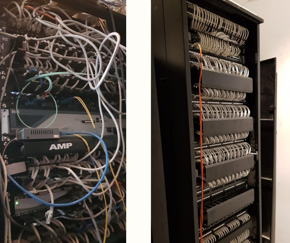 Improper Cabling Causing Ineffective Operations and Maintenance Vs Proper Cabling