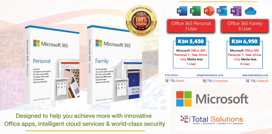 Total Solutions Ltd: Microsoft Office 365 Suite: Designed to Help You Achieve More