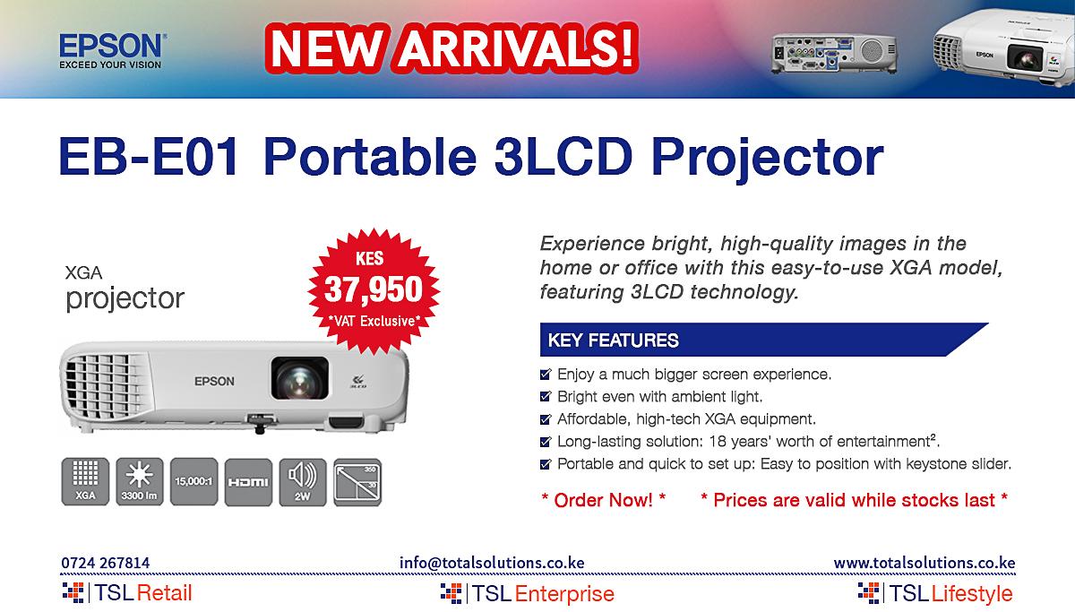 EB-E01 Portable 3LCD Projector