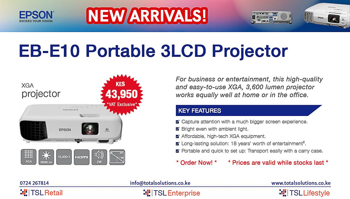 EB-E10 Portable 3LCD Projector
