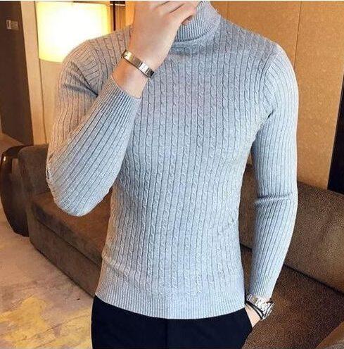 For Men- Fashion Grey Men's Pullneck
