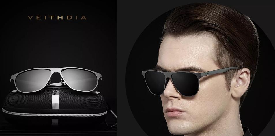 VEITHDIA Polarized TR90 Men Sunglasses