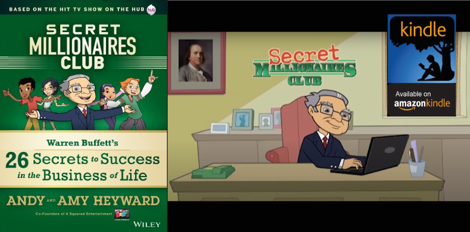 Amazon Kindle- H&S Magazine's Recommended Book Of The Week-Authors: Andy Heyward & Amy Heyward- Secret Millionaires Club: Warren Buffett's 26 Secrets to Success in the Business of Life