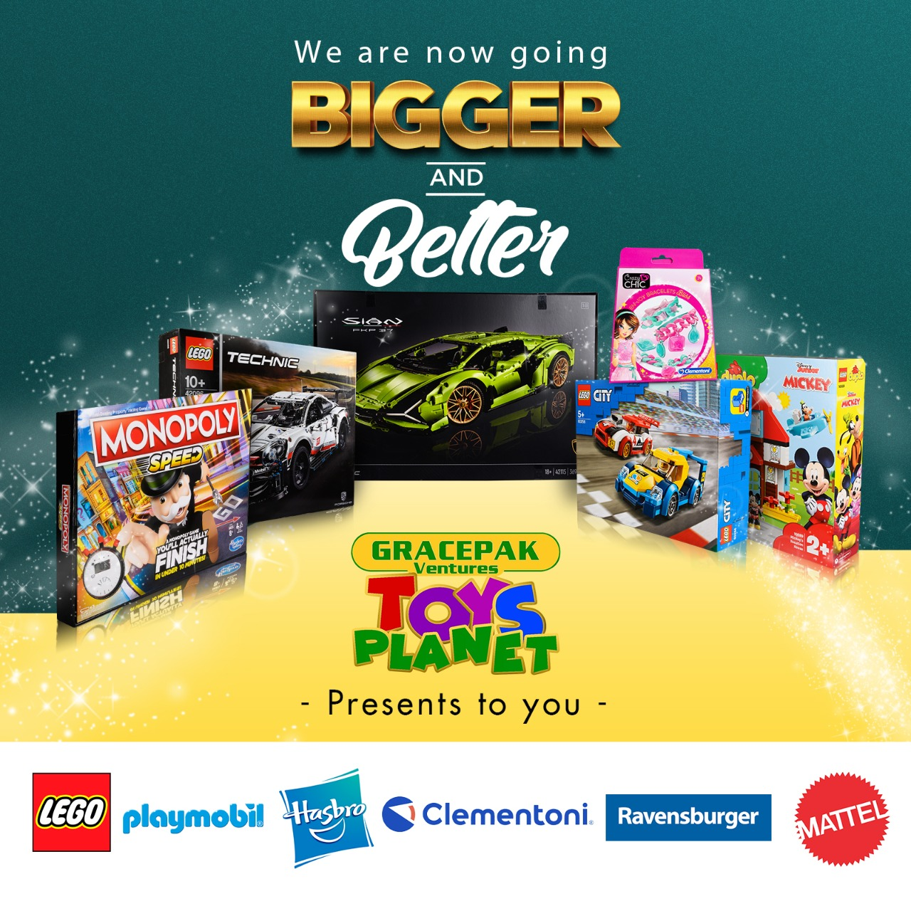 GRACEPAK Ventures- TOYS PLANET: We Are Now Going BIGGER And BETTER