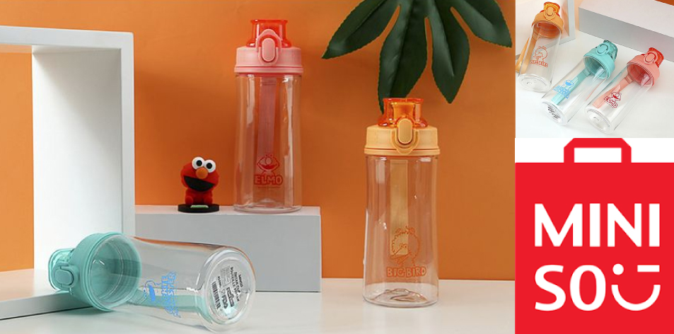 Miniso Tritan Water Bottles- 450ml- Tritan Portable Sports Bottle