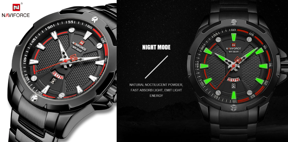 Naviforce Fashion Men's Watches- Looking For A Great Casual Watch? 9085 Quartz BBW